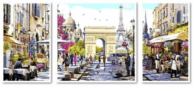 Модульные картины Триптих Весенний Лондон