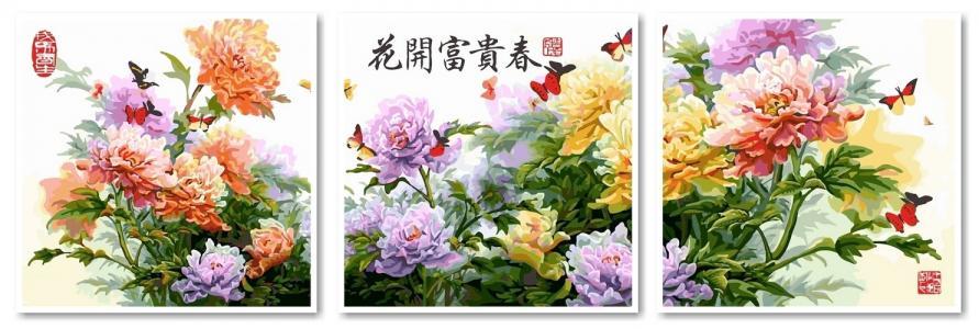 Модульные картины Японские хризантемы