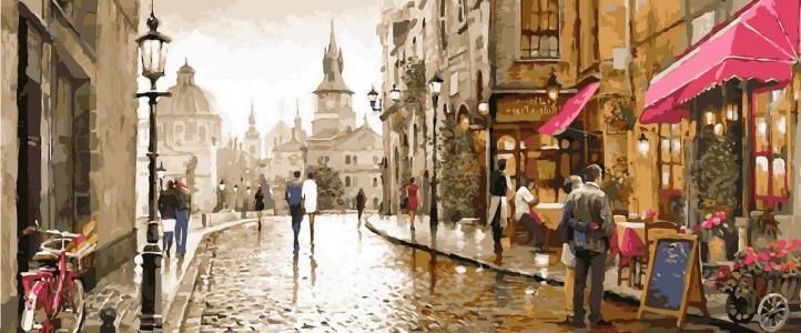 Модульные картины Краски вечернего города