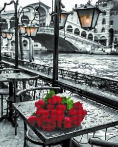 Алмазные картины 2 в 1 Розы под дождем