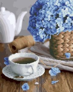 Алмазные картины 2 в 1 Чай с цветочным ароматом