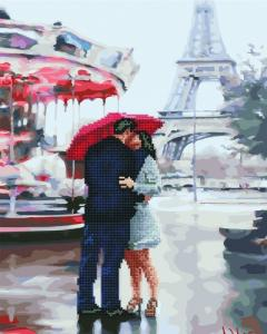 Алмазные картины 2 в 1 Под зонтом счастья