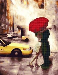 Алмазные картины 2 в 1 Любовь в большом городе