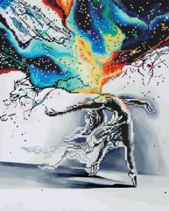 Алмазные картины 2 в 1 Танец искусства