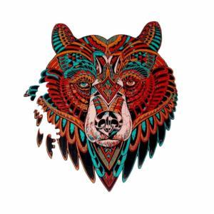 Деревянные пазлы Медведь